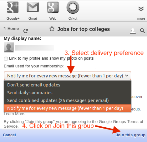 Click on Join group button